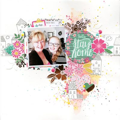 Let's Stay Home Scrapbook Layout