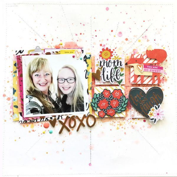 Mom Life Scrapbook Layout
