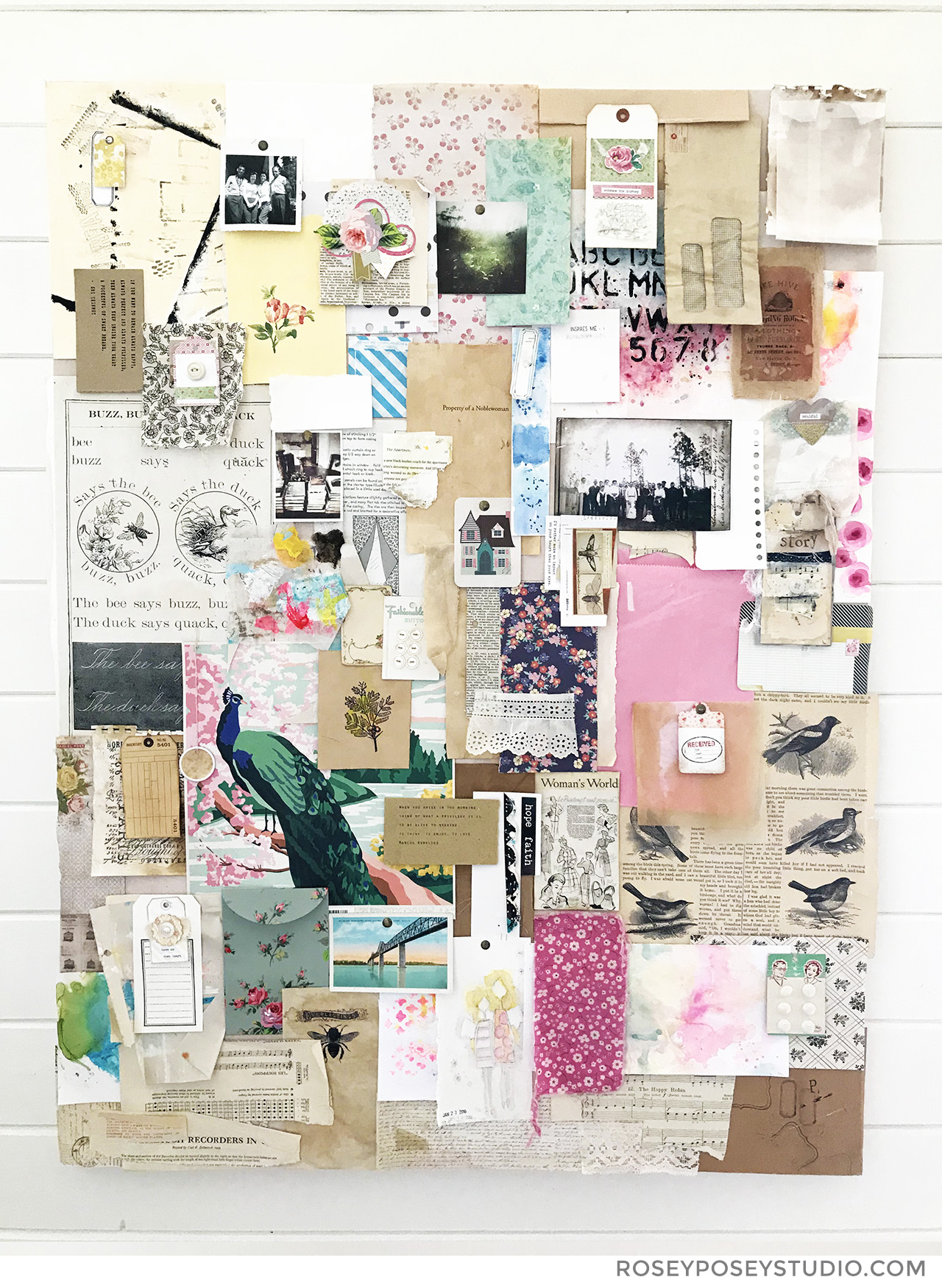 Junque Collage Inspiration Board