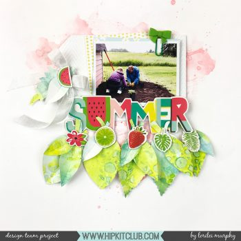 Summer Watercolor Leaves – Hip Kit Club