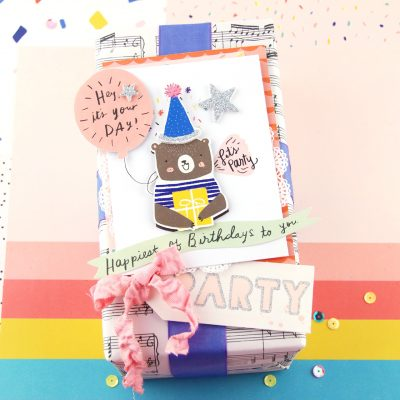 Create a Dimensional Package Topper – Crate Paper
