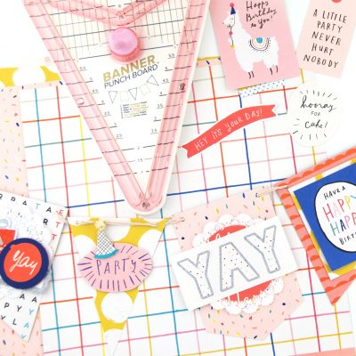 Hooray Birthday Banner – Pebbles Banner Punch Board