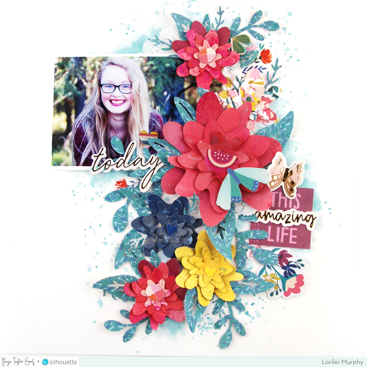 This Life Flower Layout – Paige Evans + Silhouette