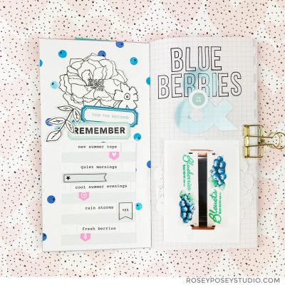 Blueberries Traveler's Notebook – Studio Calico
