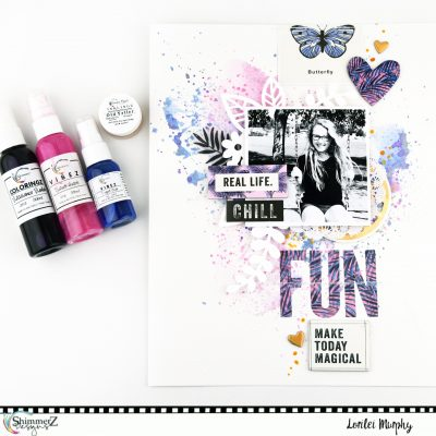 Fun Layout – Crate Paper & Shimmerz