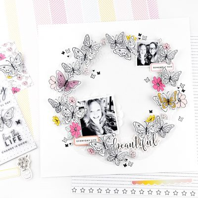 Butterfly Stamp Wreath – Felicity Jane