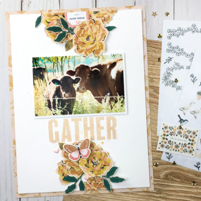 Gather Scrapbook Layout – Citrus Twist Kits
