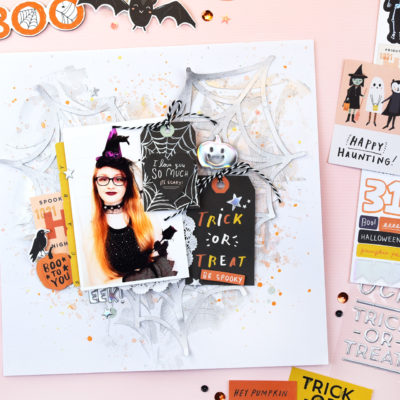Hey Pumpkin Mixed Media Layout – Crate Paper