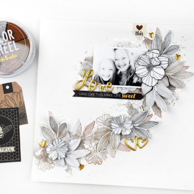 Metallic Floral Layout – Vicki Boutin