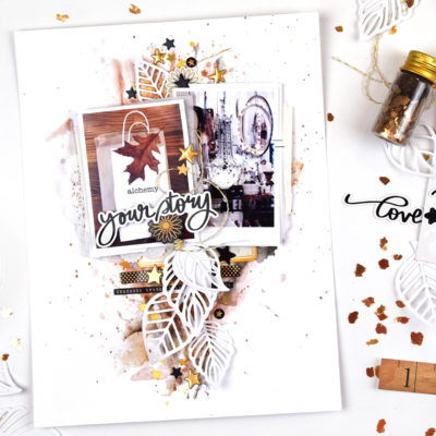 Fall Inspired Mixed Media Layout – Vicki Boutin