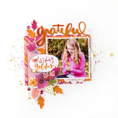 Grateful Layout using a Sketch – Citrus Twist Kits