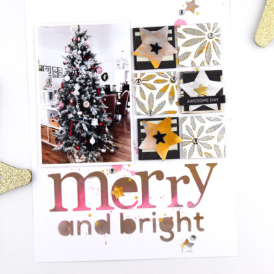 Merry and Bright Layout – Vicki Boutin