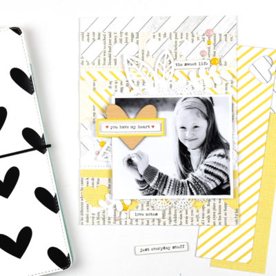 6×8 Scrapbook Layout – Freckled Fawn